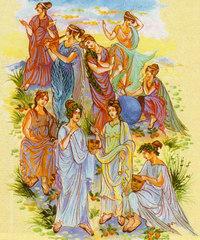 Музы Древней Греции - девять дочерей Зевса