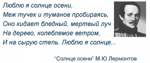 Пример лирического отступления в произведении М. Ю. Лермонтова